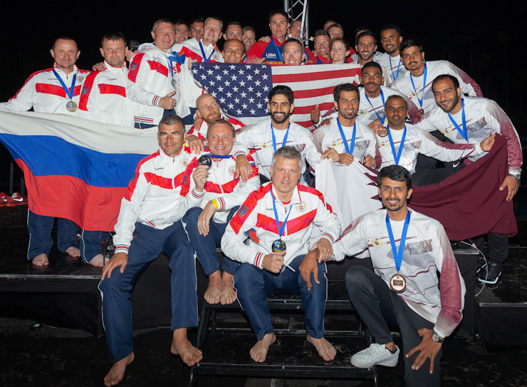 World 8-Way Champions and Silver & Bronze Winners